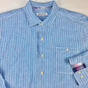 Tommy Bahama Men's Striped Long Sleeve Shirt Sz XL